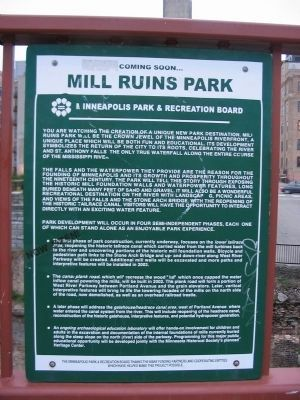 Nearby Mill Ruins Park Sign image. Click for full size.
