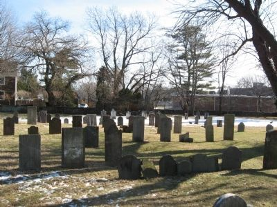Headstones in the Old Burying Ground image. Click for full size.