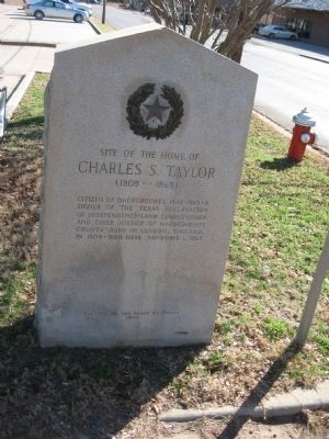Site of Home of Charles S. Taylor Marker image. Click for full size.