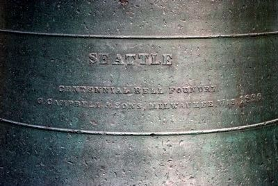 1890 Seattle Fire Department Bell image. Click for full size.