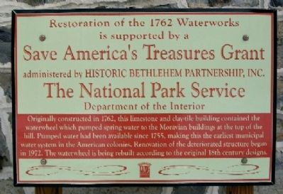 Restoration of the 1762 Waterworks Marker image. Click for full size.