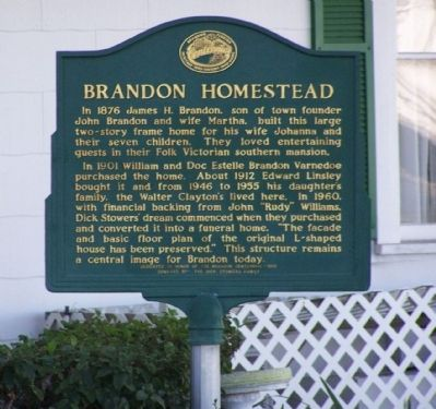 Brandon Homestead Marker Photo, Click for full size