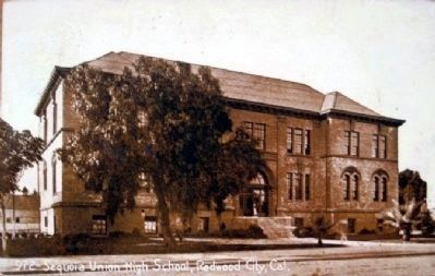 Sequoia Union High School Postcard Image image. Click for full size.