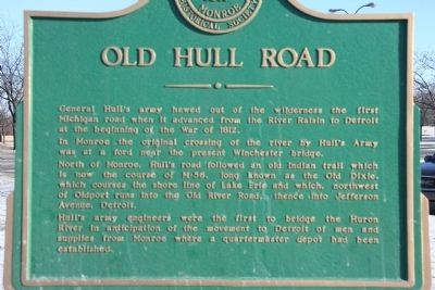 Old Hull Road Marker image. Click for full size.