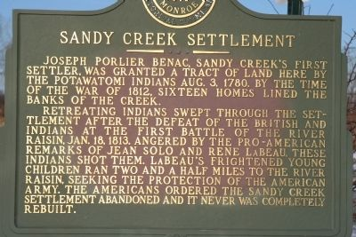 Sandy Creek Settlement Marker Photo, Click for full size