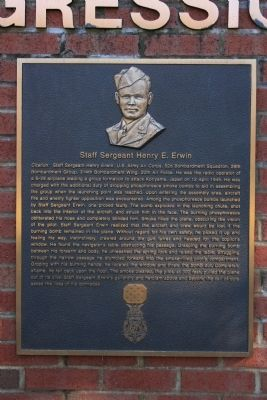 Congressional Medal Of Honor Recipient: Staff Sergeant Henry E. Erwin image. Click for full size.