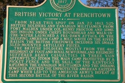 British Victory at Frenchtown Marker image. Click for full size.