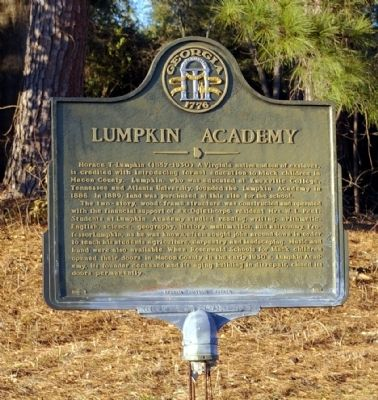 Lumpkin Academy Marker image. Click for full size.
