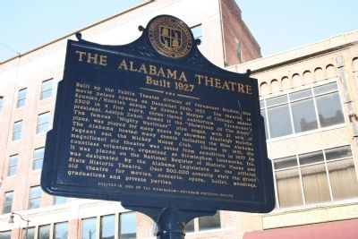 The Alabama Theatre Marker image. Click for full size.