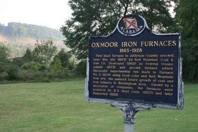 Oxmoor Iron Furnaces Marker image. Click for full size.