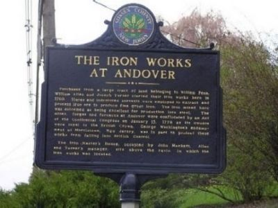 The Iron Works at Andover Marker image. Click for full size.