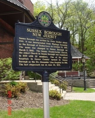 Sussex Borough, New Jersey Marker image. Click for full size.