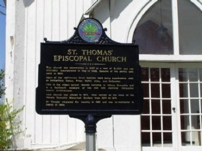 St. Thomas Episcopal Church Marker image. Click for full size.