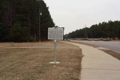 Mt. Zion Methodist Church Marker, looking north along Loring Mill Road (State Road 204) image. Click for full size.