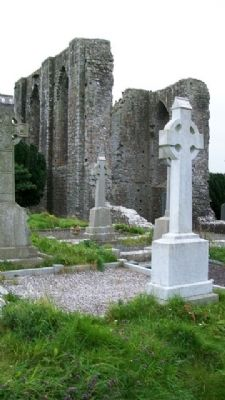 Cemetery Crosses at Newtowntrim Cathedral image. Click for full size.