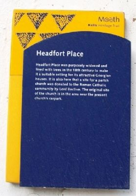 Headfort Place Marker image. Click for full size.
