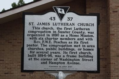 St. James Lutheran Church Marker image. Click for full size.