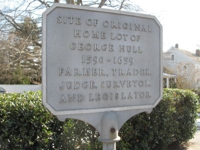 George Hull Home Lot Marker Photo, Click for full size