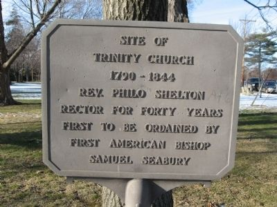 Site of Trinity Church Marker image. Click for full size.
