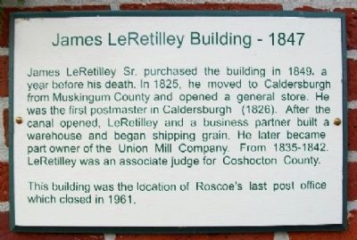 James LeRetilley Building - 1847 Marker image. Click for full size.