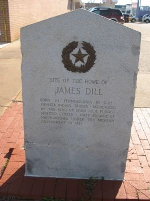 Site of the home of James Dill Marker image. Click for full size.