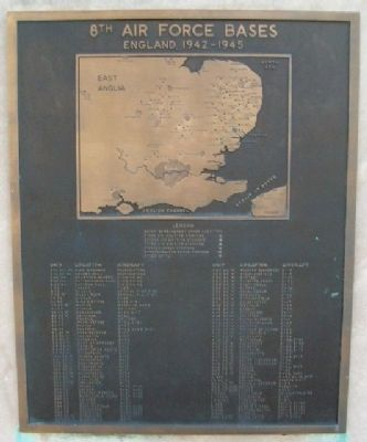 8th Air Force Bases Marker image. Click for full size.