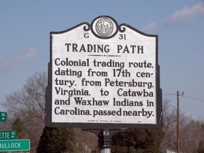 Trading Path Marker Photo, Click for full size