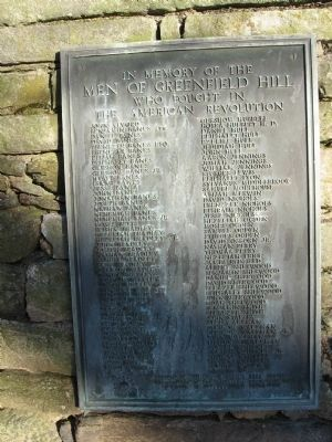 Men of Greenfield Hill Marker image. Click for full size.