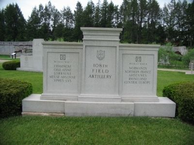 108th Field Artillery Memorial image. Click for full size.