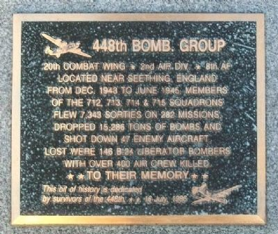 448th Bombardment Group Memorial image. Click for full size.