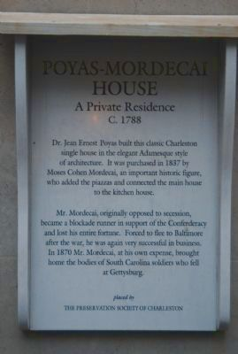 Poyas-Mordecai House Marker image. Click for full size.