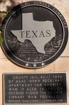 Burnet County Jail Marker image. Click for full size.