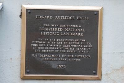 Edward Rutledge House Marker image. Click for full size.
