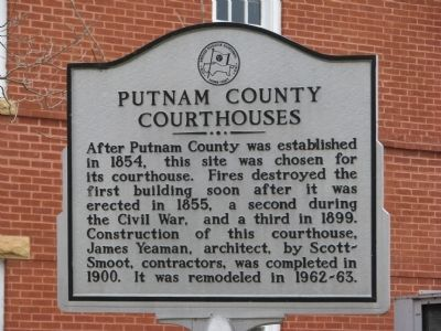 Putnam County Courthouses Marker image. Click for full size.