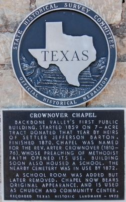 Crownover Chapel Marker image. Click for full size.