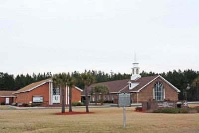 Enon Baptist Church and Marker image. Click for full size.