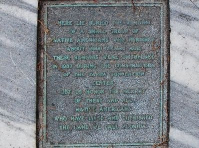 Tampa Native Americans Marker image. Click for full size.