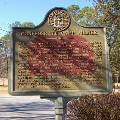 Confederate Camp Milner Marker image. Click for full size.