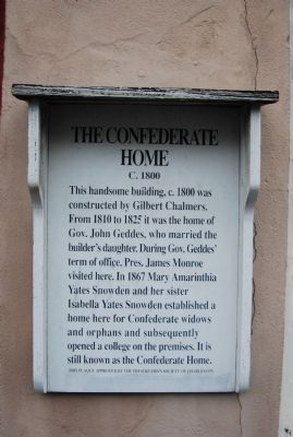 The Confederate Home Marker image. Click for full size.