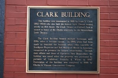 Clark Building Marker image. Click for full size.