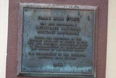 Clark Mills Studio Marker, Studio of self-taught sculptor Clark Mills Photo, Click for full size