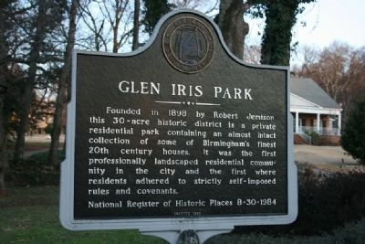 Glen Iris Park Marker image. Click for full size.