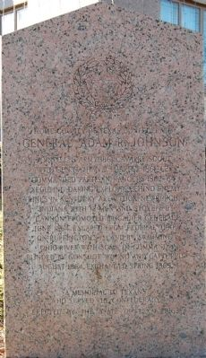 General Adam R. Johnson Marker image. Click for full size.
