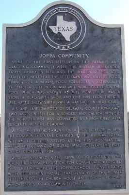 Joppa Community Marker image. Click for full size.