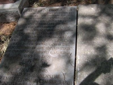 Charles Pinckney Grave Photo, Click for full size