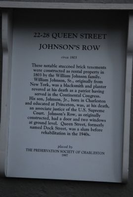 Johnson's Row Marker image. Click for full size.