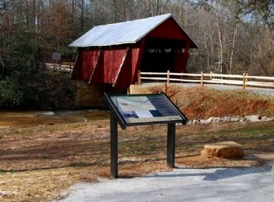 Campbell's Covered Bridge and Marker image. Click for full size.