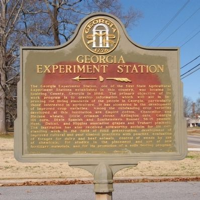 Georgia Experiment Station Marker Photo, Click for full size