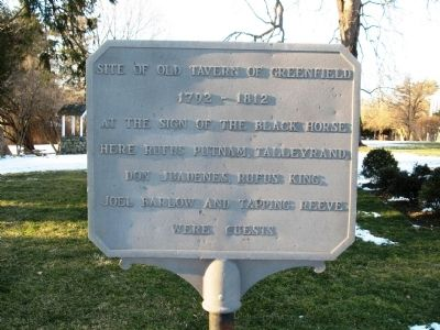 Site of Old Tavern of Greenfield Marker Photo, Click for full size