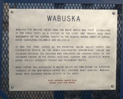 Wabuska Marker Photo, Click for full size